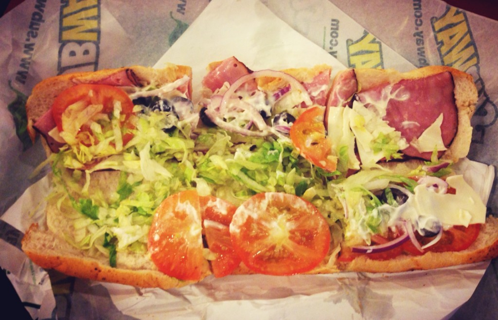 My Fave combination of subway! yum!