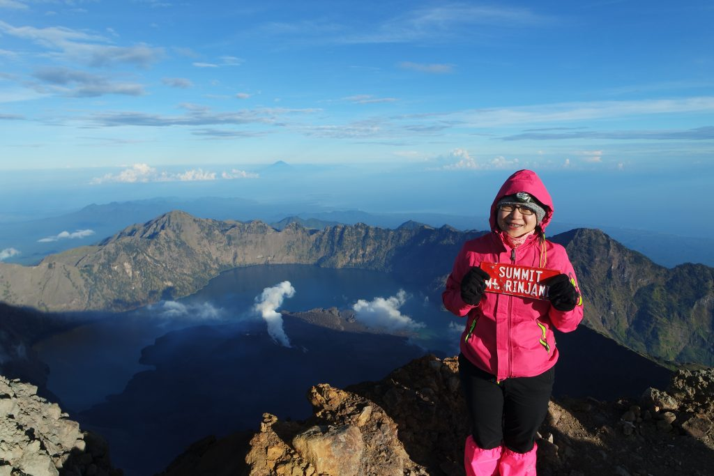 Hi! from summit Rinjani
