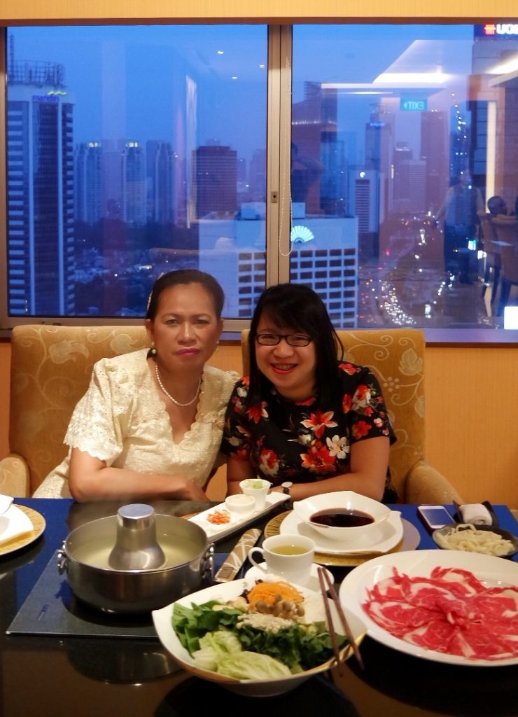 with Mom at Kahyangan Restaurant