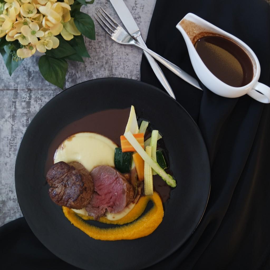 Pan-seared Tenderloin Steak with Chocolate Sauce