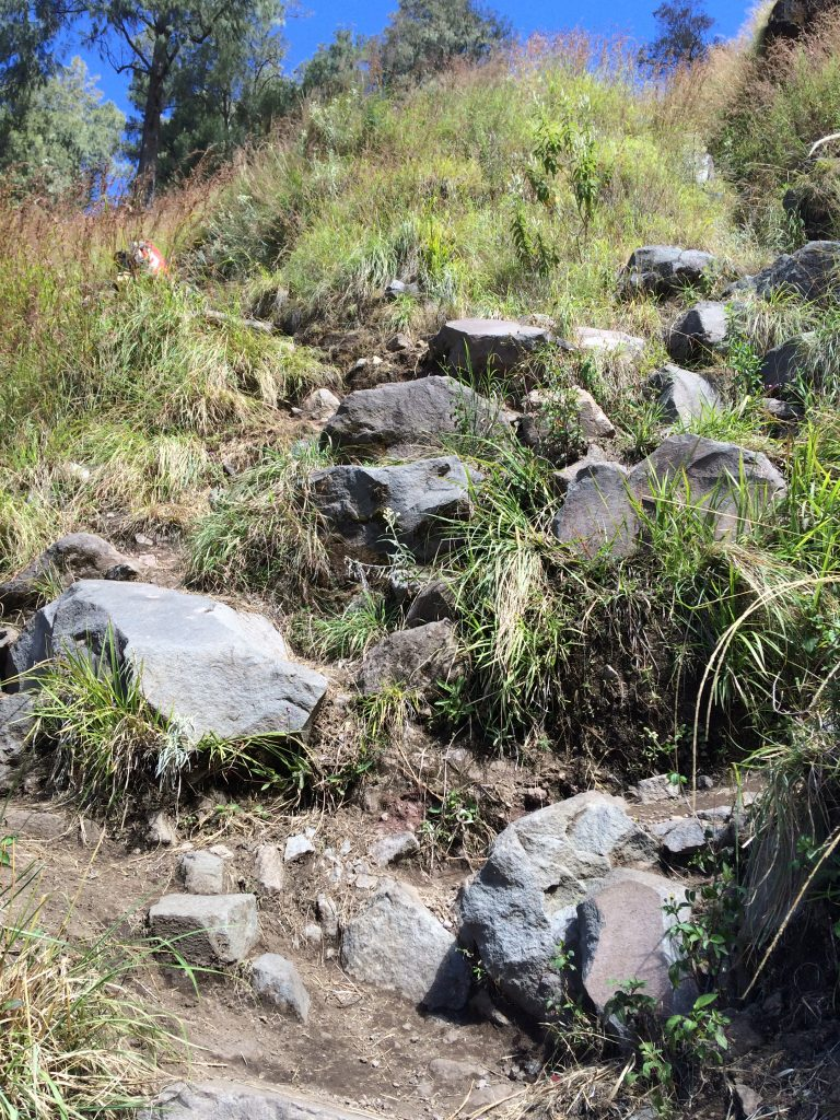Medan Pendakian dari Danau Segara Anak menuju Plawangan Senaru